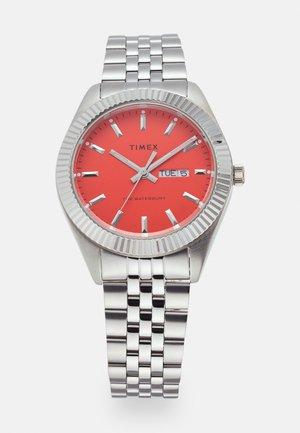 WATERBURY LEGACY UNISEX - Horloge - silvertone/deep orange