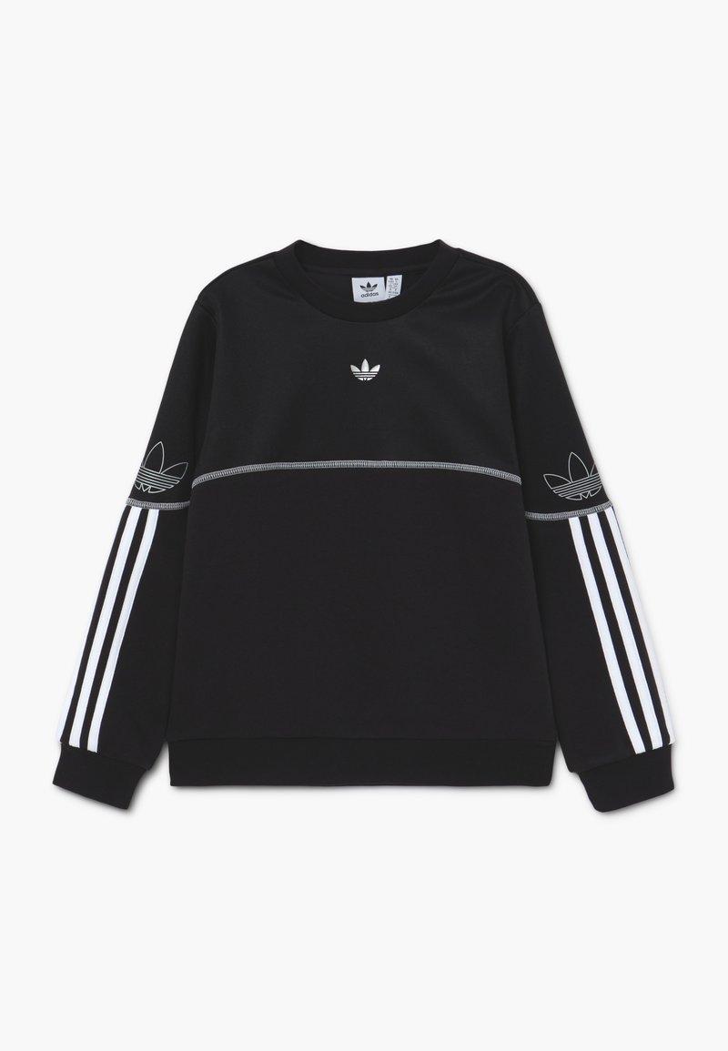 adidas Originals - OUTLINE CREW - Sweatshirt - black/white