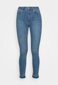 NA-KD - SKINNY HIGH WAIST OPEN HEM - Jeans Skinny Fit - mid blue - 3
