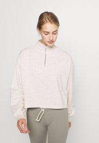 Cotton On Body - HALF ZIP CREW - Sweater - oatmeal marle - 0