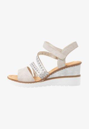 Wedge sandals - ice