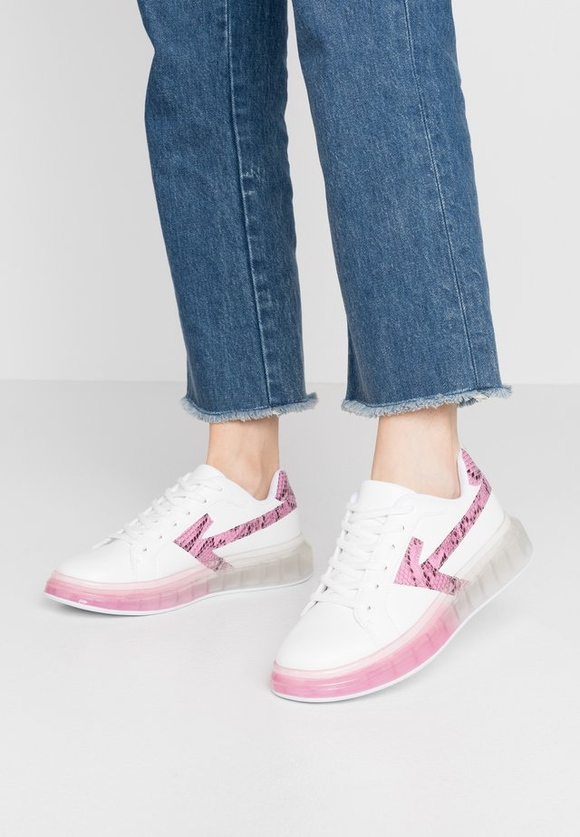 Sneakers - white/pink
