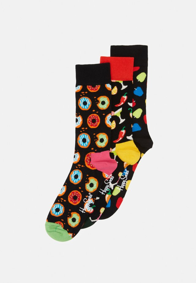 DONUT DRINK APPLE 3 PACK - Socks - black/multi