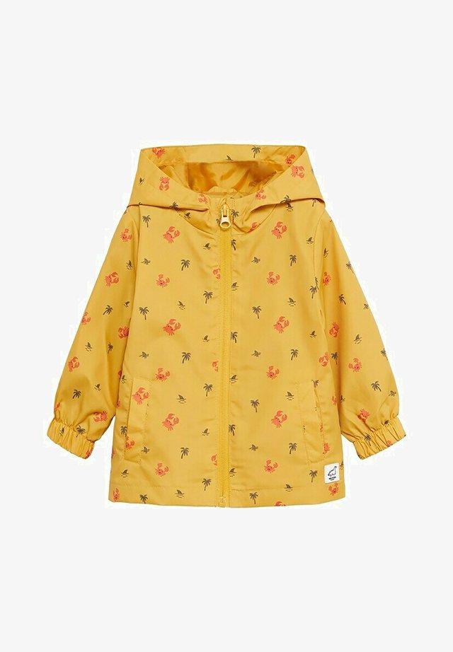Waterproof jacket - mosterd
