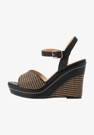Sandaler med høye hæler - noir