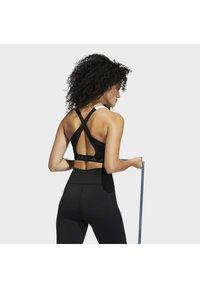 adidas Performance - Medium support sports bra - white/black - 2