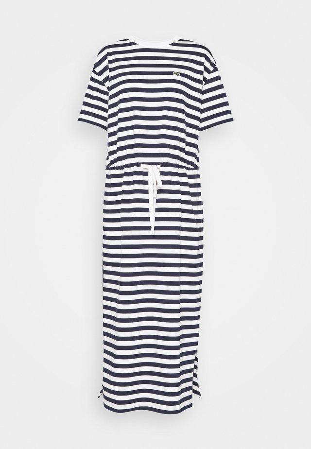Žerzejové šaty - navy blue/flour