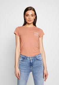 G-Star - SMALL LOGO SLIM  - T-shirts basic - mauve 4398 - 0