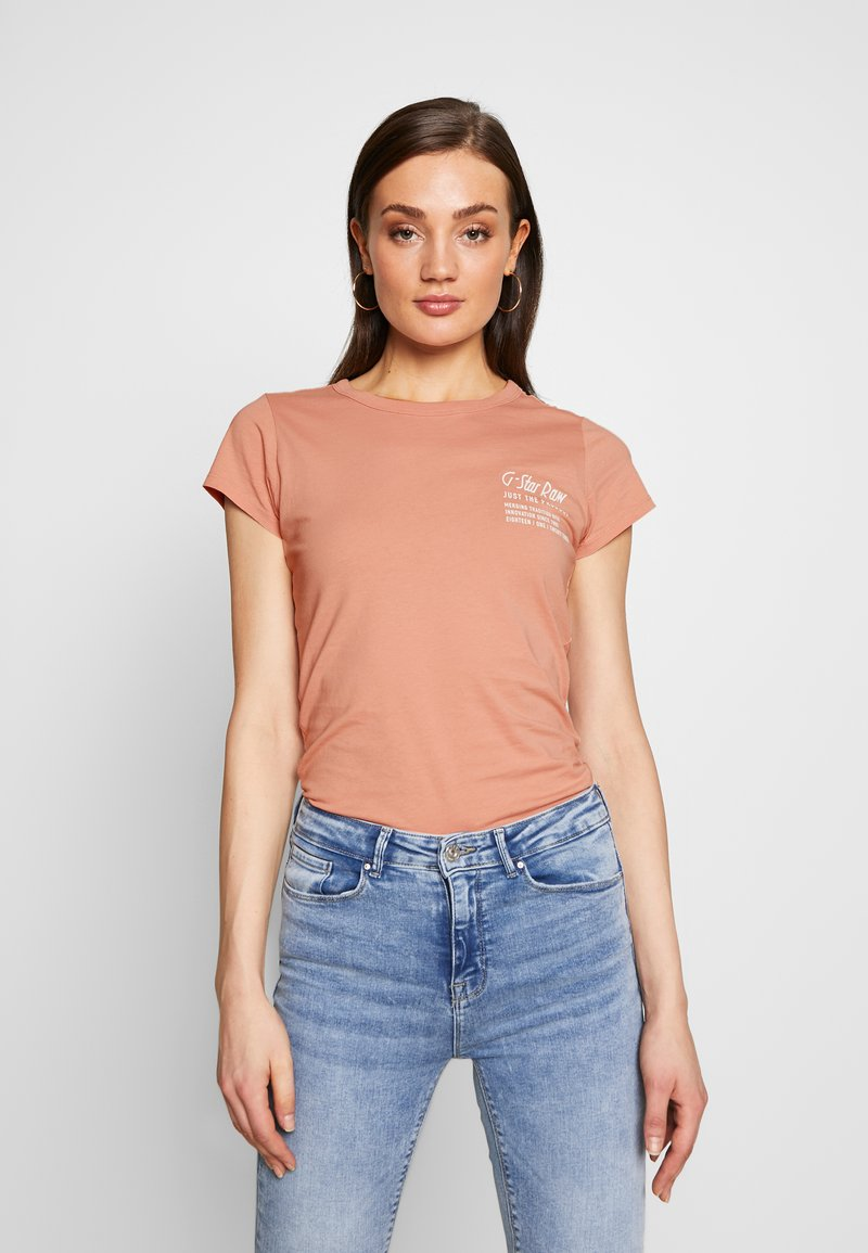 G-Star - SMALL LOGO SLIM  - T-shirts basic - mauve 4398