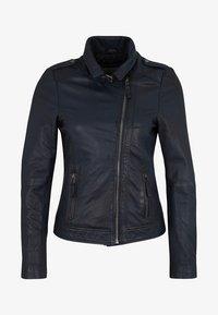 7eleven - IN TRENDIGEM LOOK - Leather jacket - navy - 2