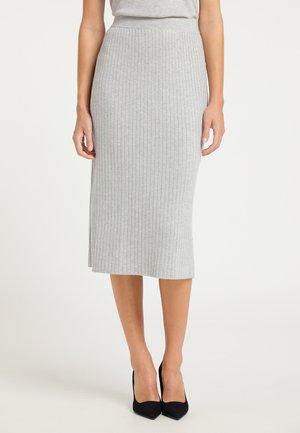 Pencil skirt - grau melange