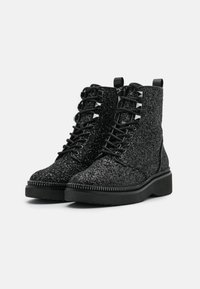MICHAEL Michael Kors - HASKELL BOOTIE - Lace-up ankle boots - black - 2