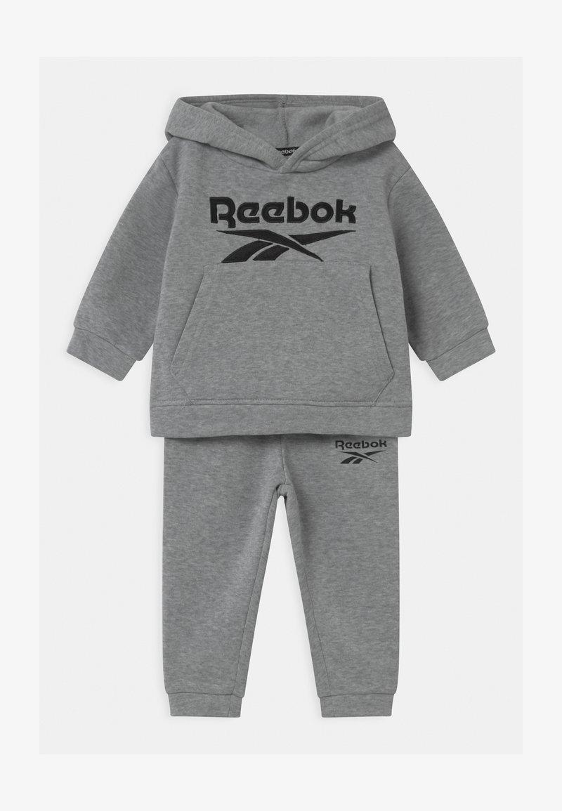 Reebok - HOODIE SOLID SET - Trainingsanzug - mottled grey
