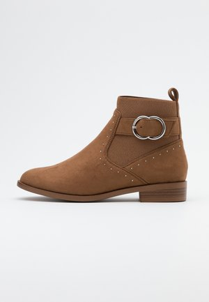 ONLBOBBY LIFE BUCKLE BOOT  - Classic ankle boots - sand