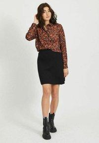 Vila - Button-down blouse - tobacco brown - 1