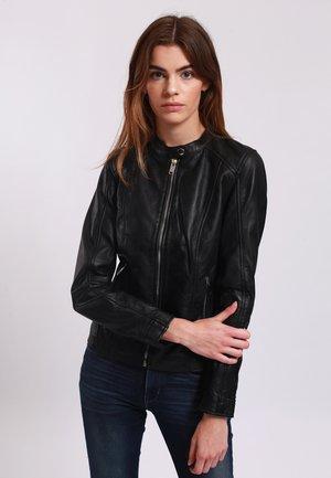 BEVERLEY - Leather jacket - black
