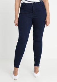 Zizzi - LONG AMY - Slim fit jeans - dark blue - 0