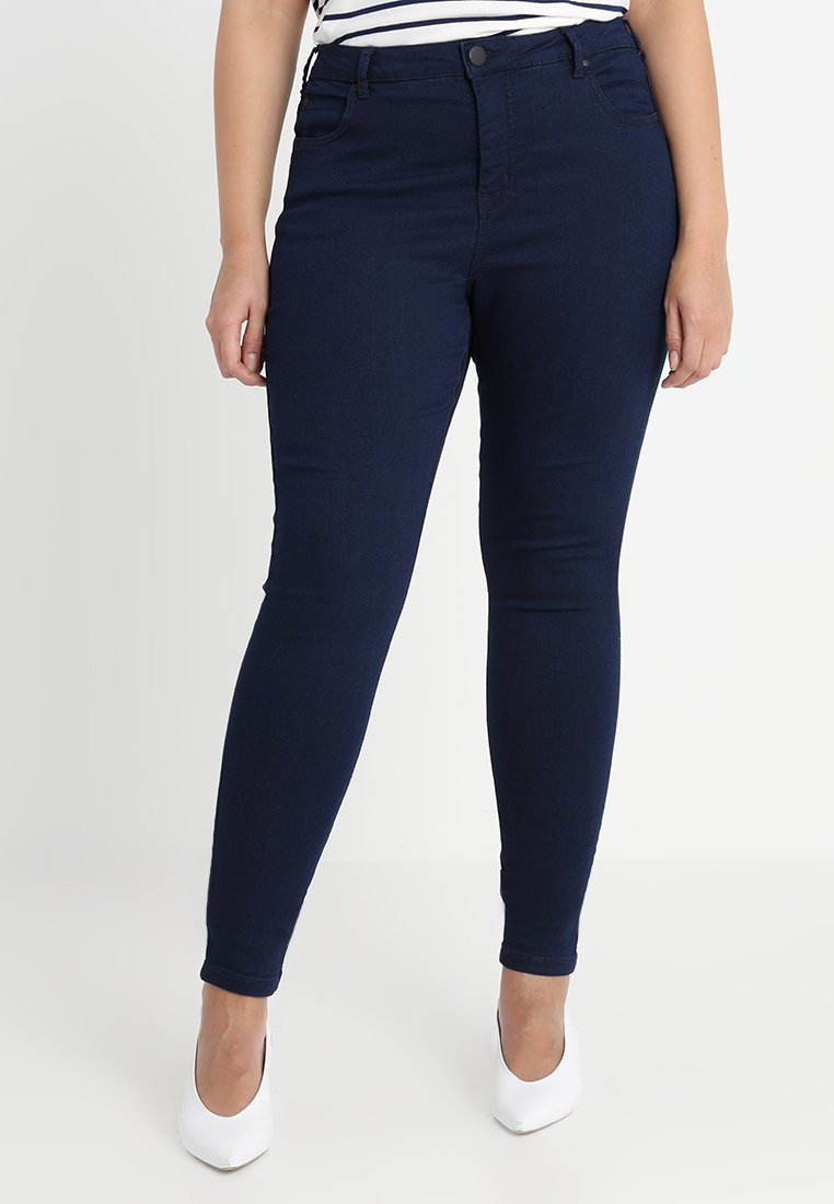 Zizzi - LONG AMY - Slim fit jeans - dark blue
