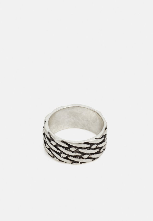 WOVEN TEXTURED RING BAND - Ringar - silver-coloured