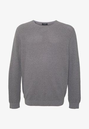 SLHROCKY CREW NECK  - Svetr - medium grey melange
