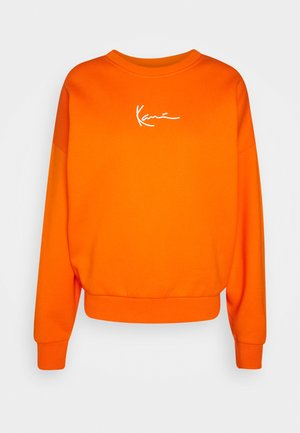 SMALL SIGNATURE CREW - Sweatshirt - orange