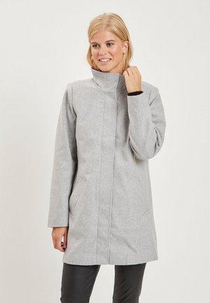 Krótki płaszcz - light grey melange