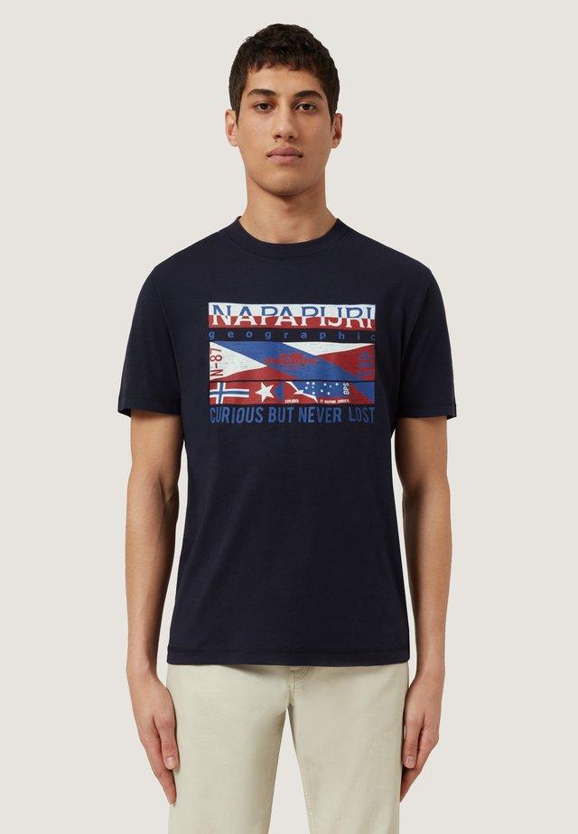 SIKAR - T-shirt z nadrukiem - blu marine