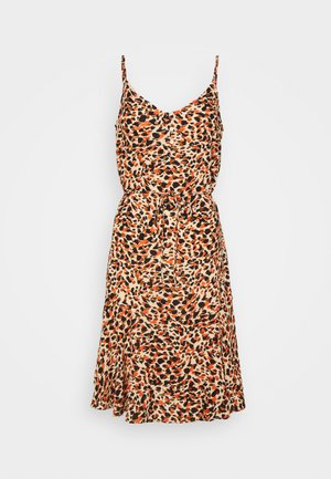 PCNYA SLIP BUTTON DRESS - Day dress - apricot cream