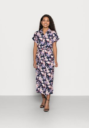 VMINES WIDE CALF SHIRTDRESS - Shirt dress - navy
