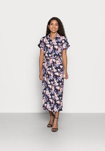 VMINES WIDE CALF SHIRTDRESS - Shirt dress - navy