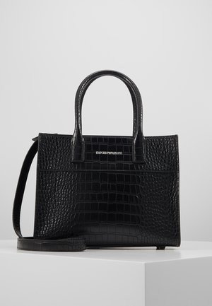 VERONICA TOP HANDLE SATCHEL CROCO - Handbag - nero