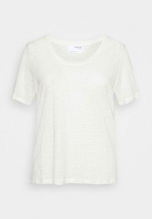 SLFLINE TEE  - T-shirts - snow white
