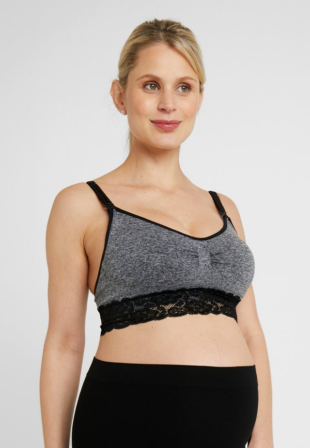 MOMMY NURSING BRA - T-shirt bra - black/grey combi