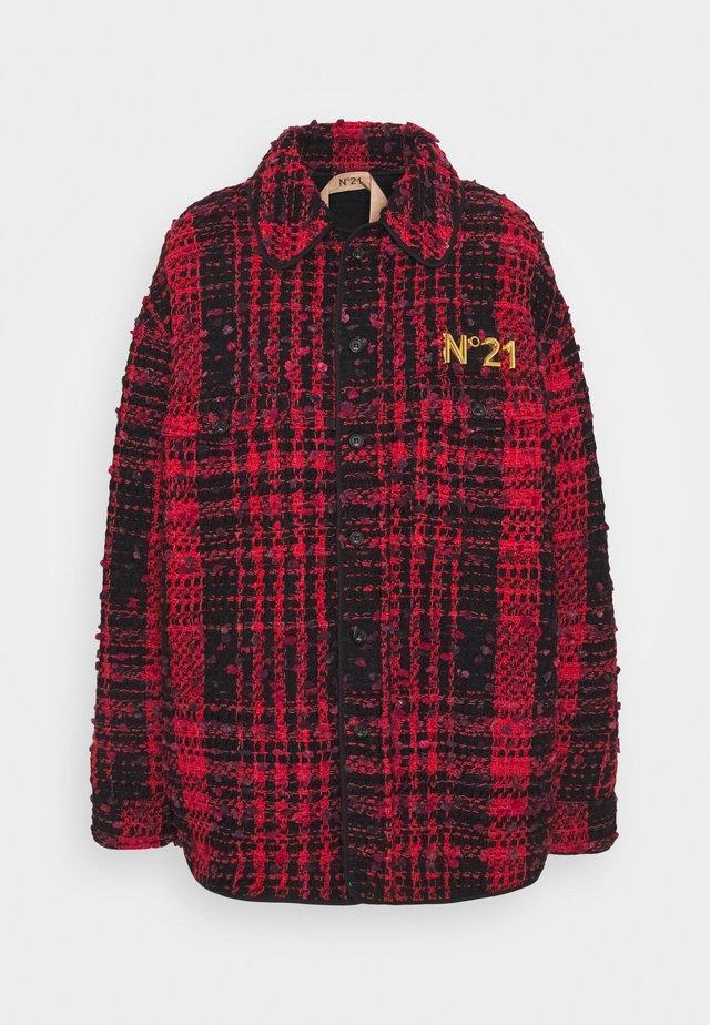 Summer jacket - fantasia base rosso/nero