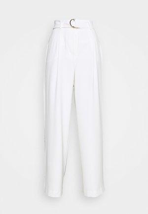 BIANCA WIDE LEG BELTED PANTS - Trousers - porcelain