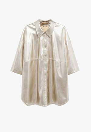 GALACTIC - Button-down blouse - guld