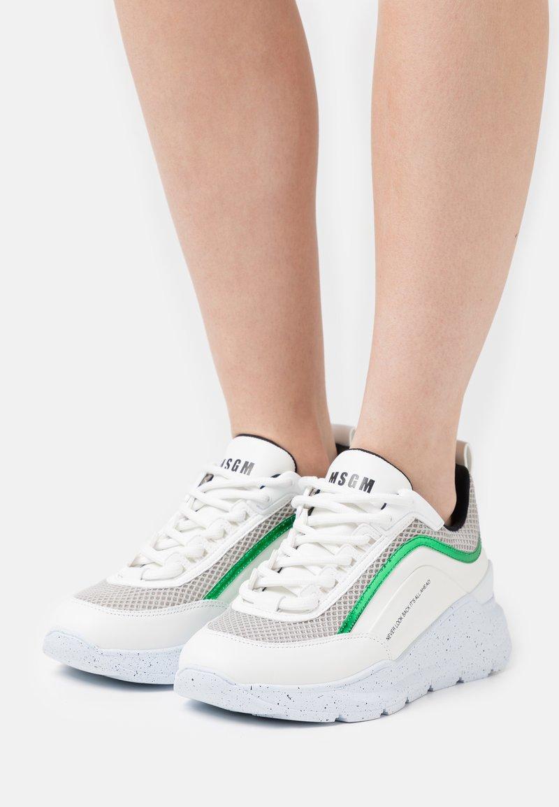 MSGM - SCARPA DONNA WOMANS SHOES - Tenisky - light grey/green