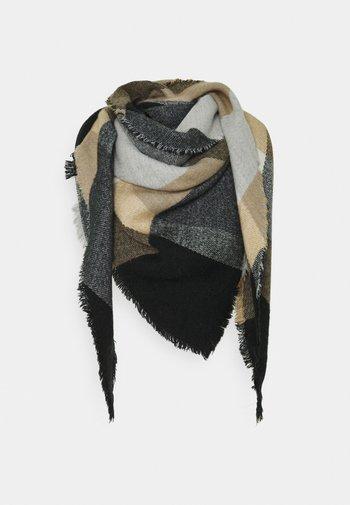 Skjerf - black/beige/off-white