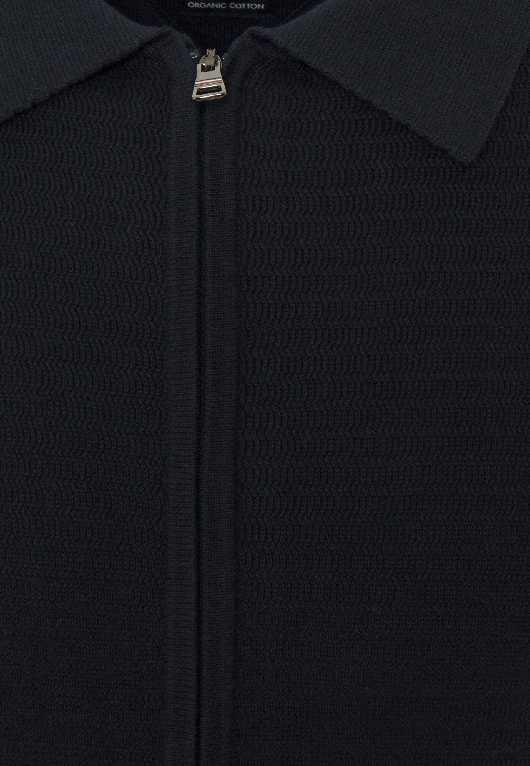 Homme FINE ZIG ZAG STRUCTURE OVERSHIRT - Gilet