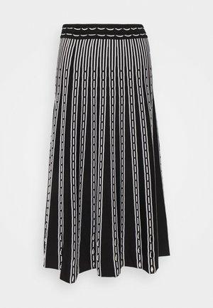 MARIE - A-line skirt - black/white