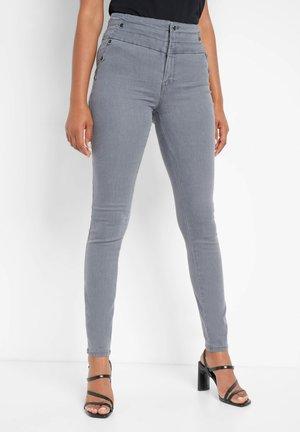 Trousers - mid grey denim