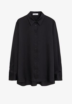 SATINI - Button-down blouse - schwarz