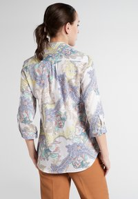 Eterna - MODERN CLASSIC - Button-down blouse - yellow/blue - 1
