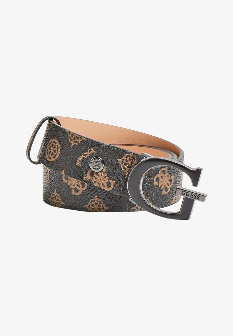 Guess - DALMA ADJUST PANT BELT - Belte - brown logo