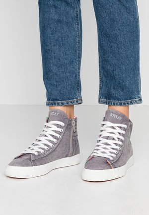 LAWNE - High-top trainers - grey