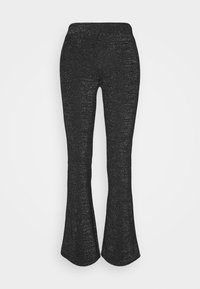 ONLY - ONLPAIGE FLARED GLITTER PANT - Trousers - black - 4