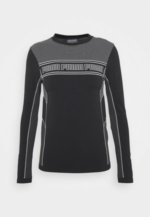 EVOSTRIPE TEE - Long sleeved top - black
