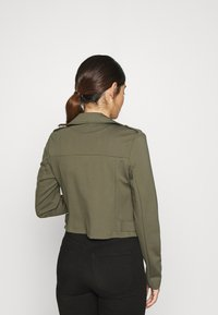 ONLY Petite - ONLPOPTRASH BIKER JACKET - Summer jacket - kalamata - 2