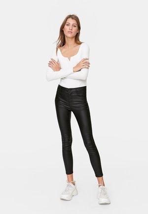 MIT HOHEM BUND - Pantalon classique - black