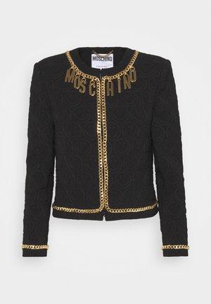 JACKET - Blazer - black/gold-coloured